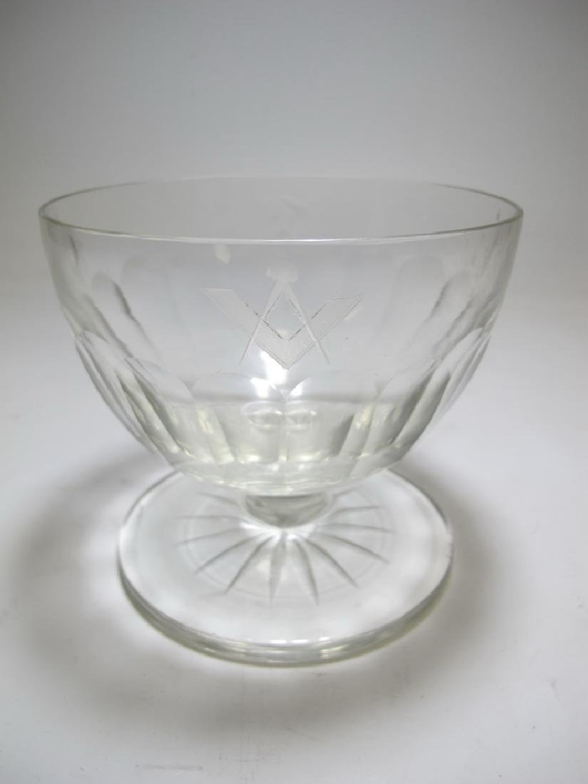 Victorian Masonic glass bowl