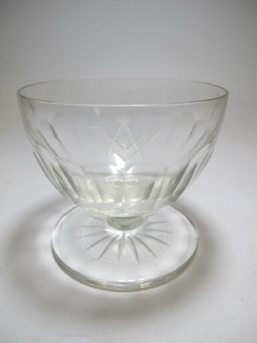 Victorian Masonic glass bowl