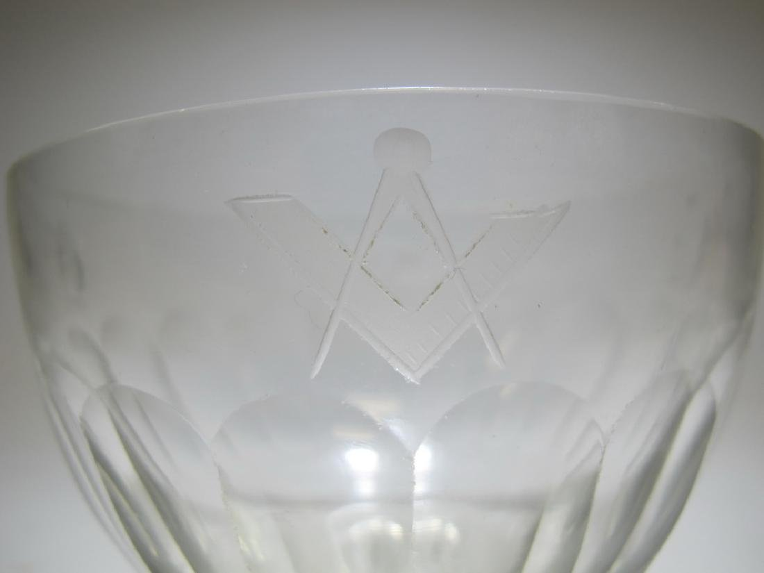 Victorian Masonic glass bowl - 3