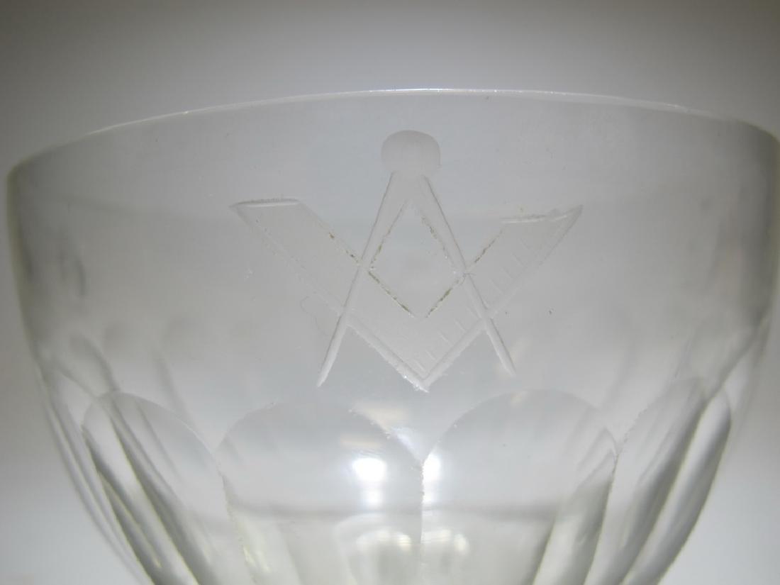 Victorian Masonic glass bowl - 3