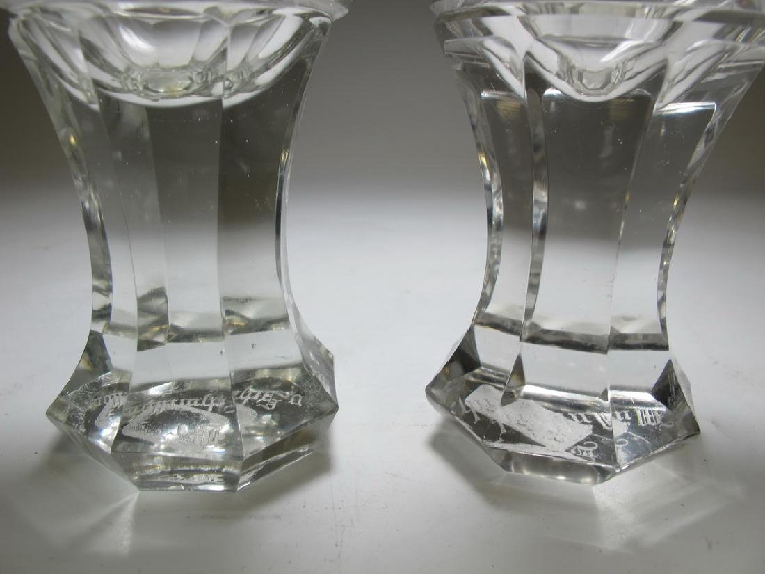 Pair of Masonic firing glass presentation goblets - 3