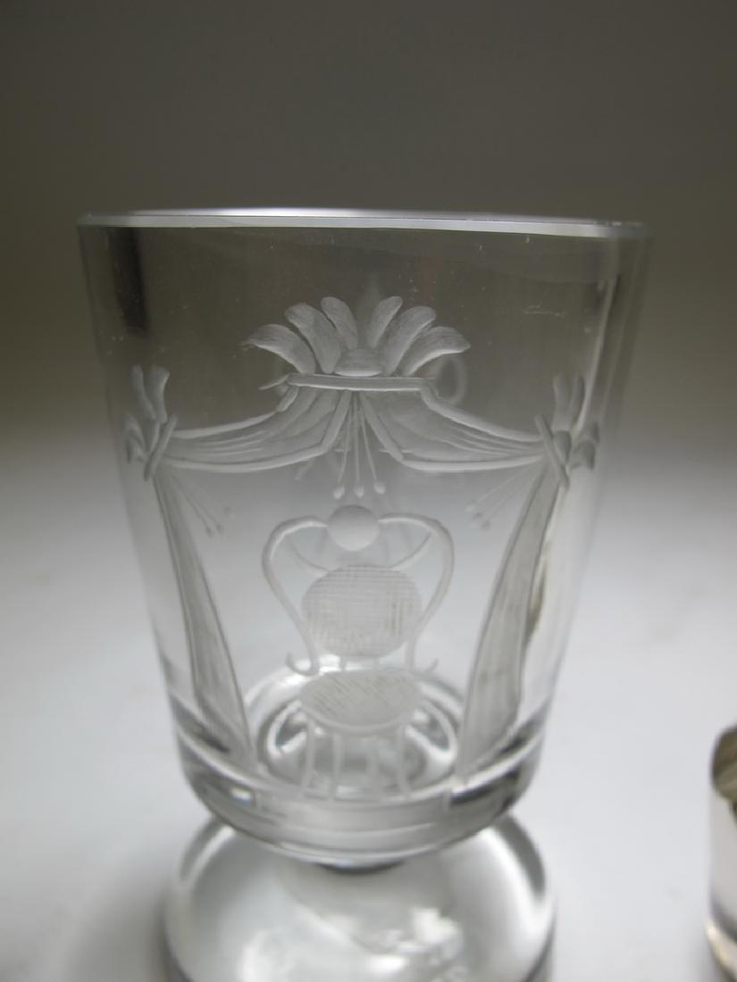 2 Masonic Bohemian firing & wine glasses - 2