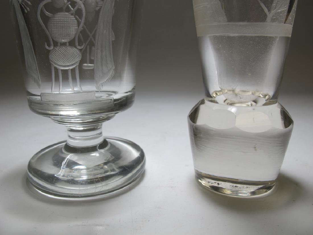 2 Masonic Bohemian firing & wine glasses - 6