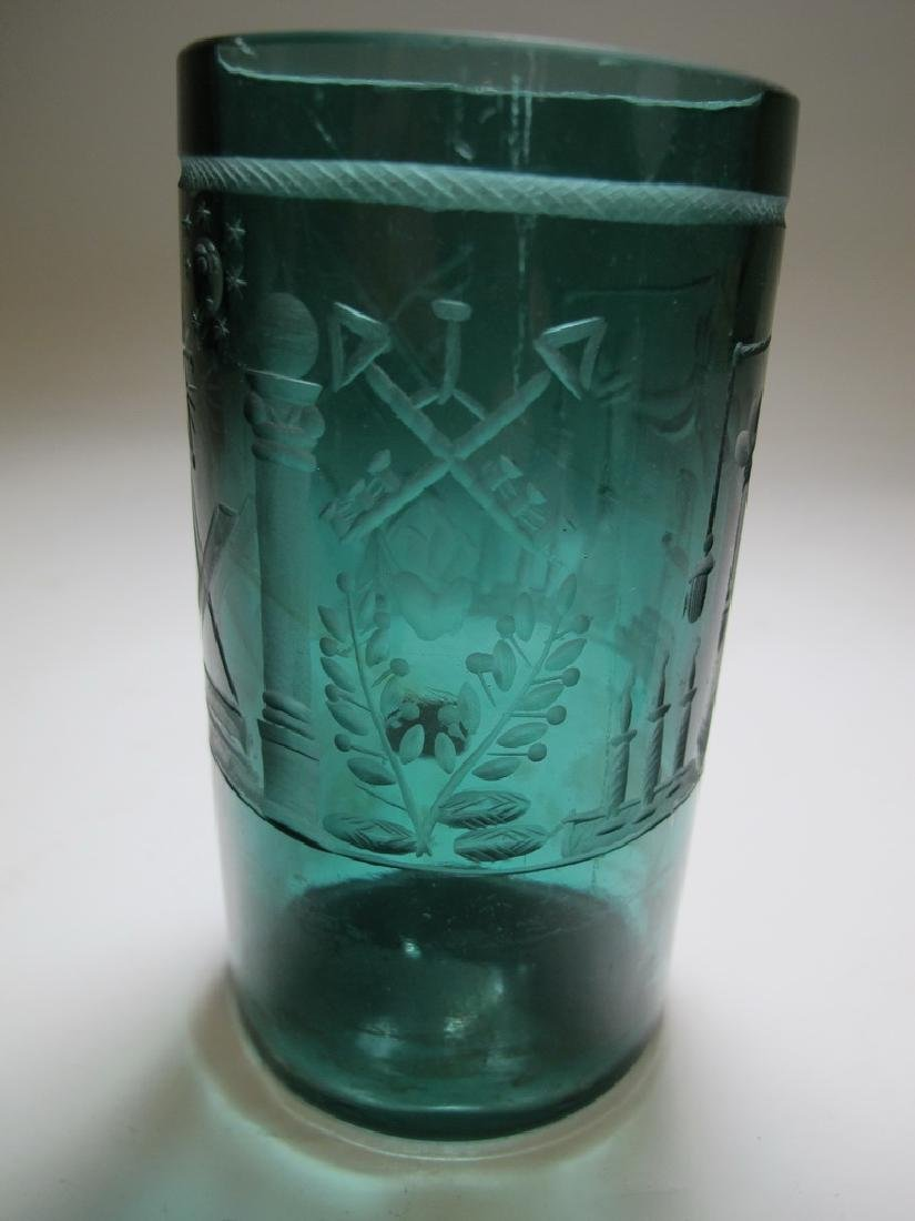 Lot of two vintage Masonic color tumblers - 6