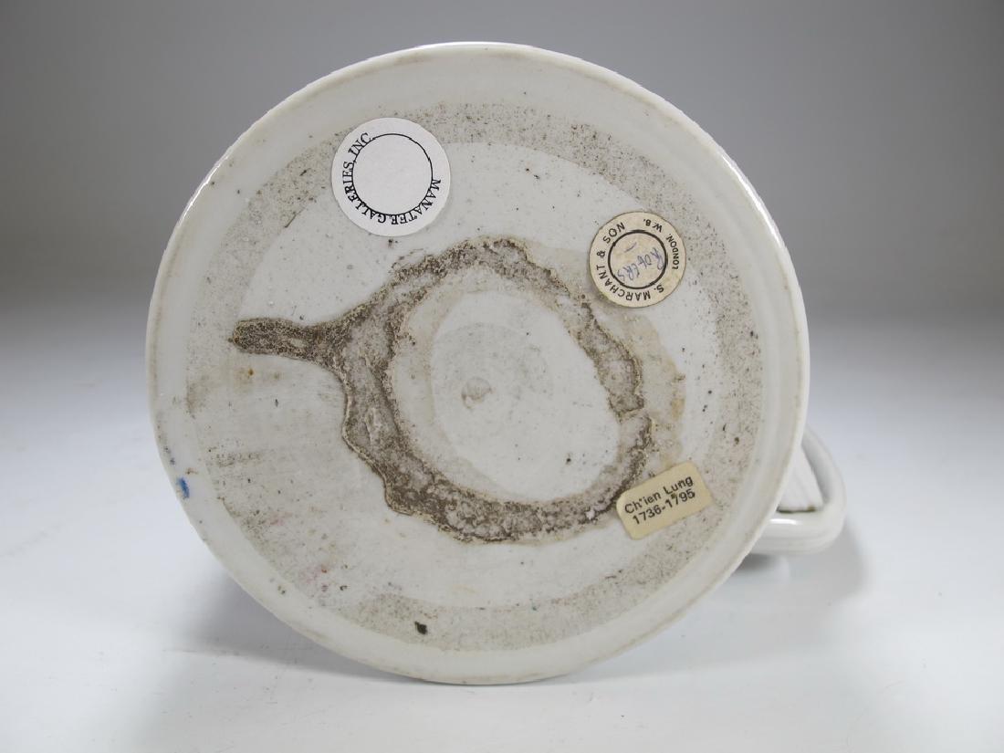 Antique English Masonic big porcelain mug - 6