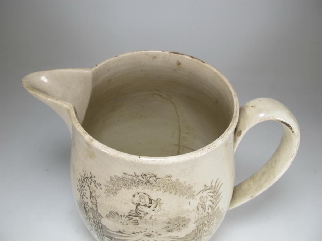 Early 19th C English Masonic pottery pitcher - 2