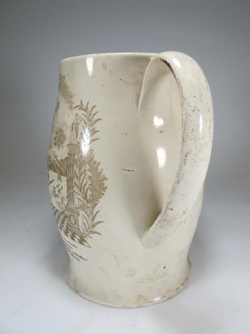 Early 19th C English Masonic pottery pitcher - 3