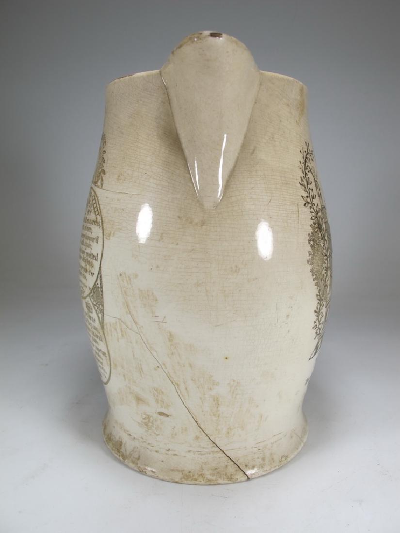 Early 19th C English Masonic pottery pitcher - 7