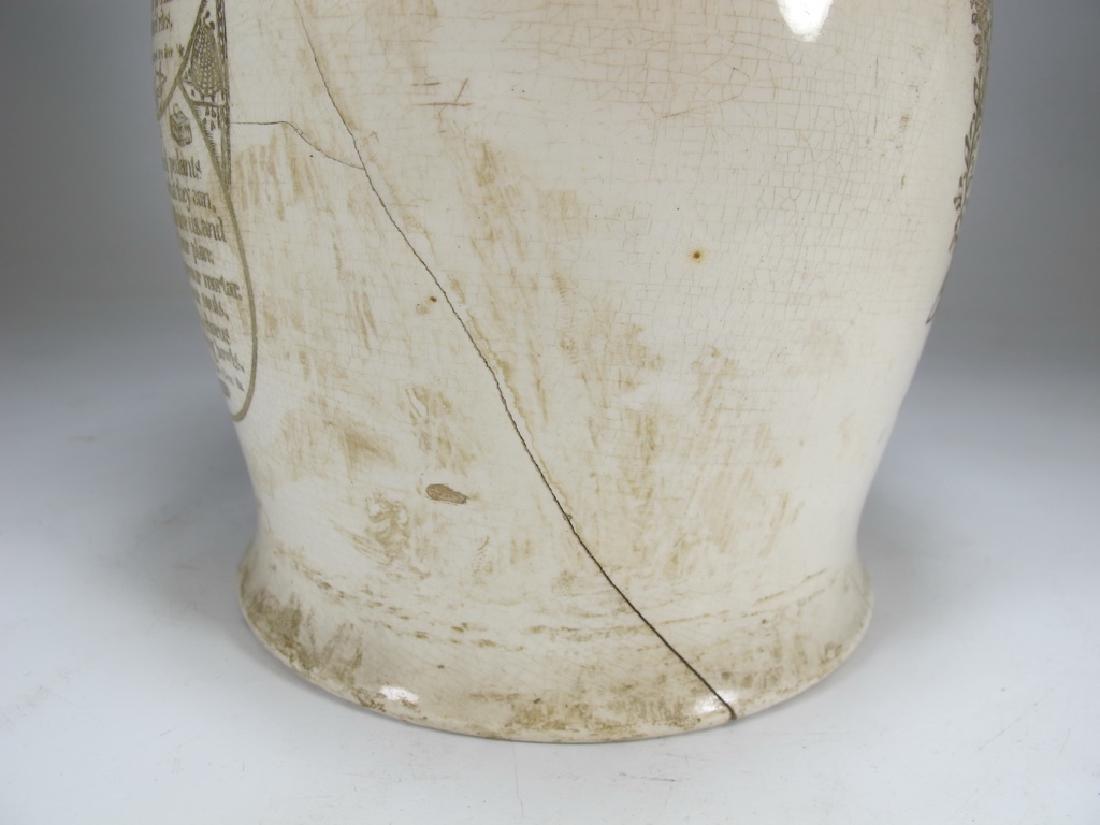 Early 19th C English Masonic pottery pitcher - 8
