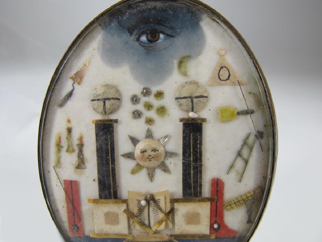 Antique French Masonic Prisoner of war Jewel - 2