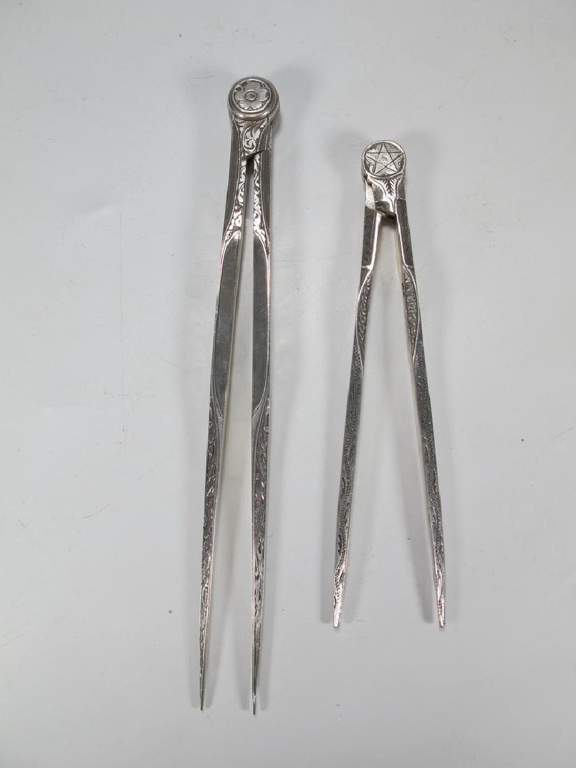 Pair of antiques  Masonic Victorian compasses