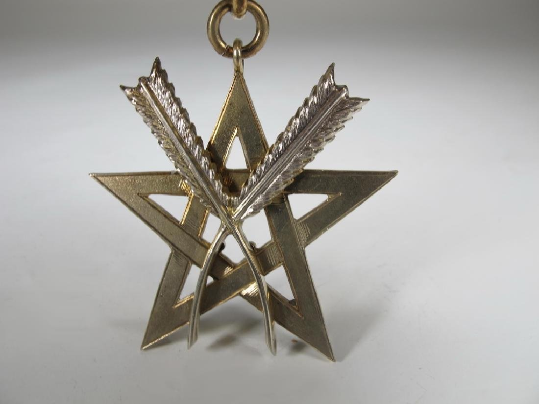 Antique Masonic silver vermeil jewel - 2