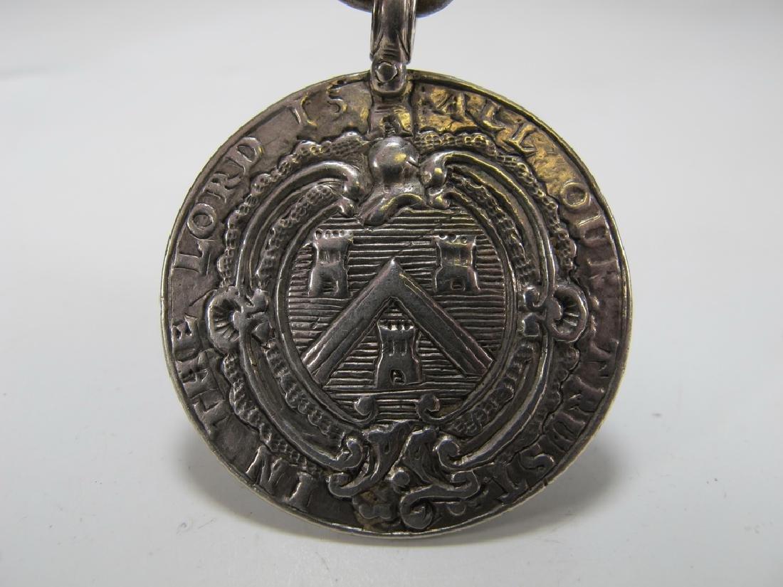 Antique Georgian Masonic sterling jewel pendant