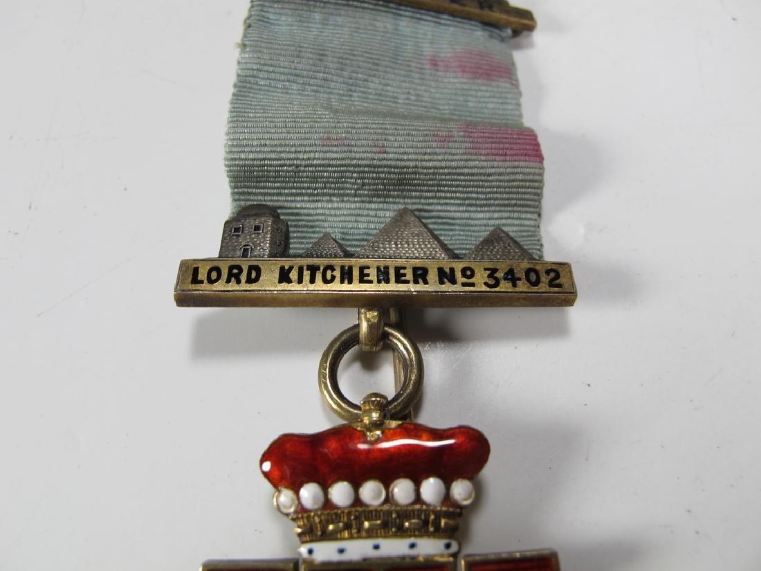 Antique English Masonic enameled jewel brooch - 3