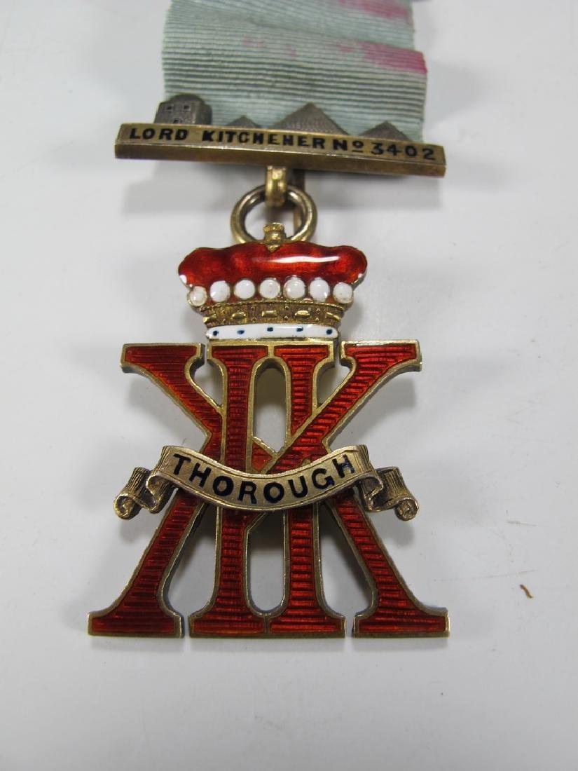 Antique English Masonic enameled jewel brooch - 4