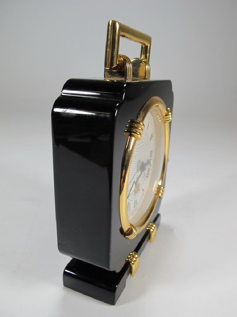 Cartier quartz Swiss black onyx desktop clock - 4