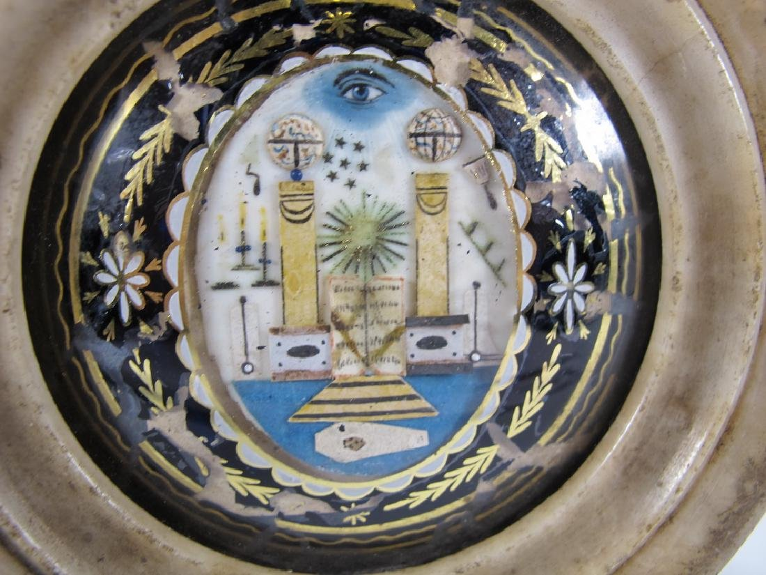Antique French Masonic alabaster P.O.W. jewel 1797-1801 - 2