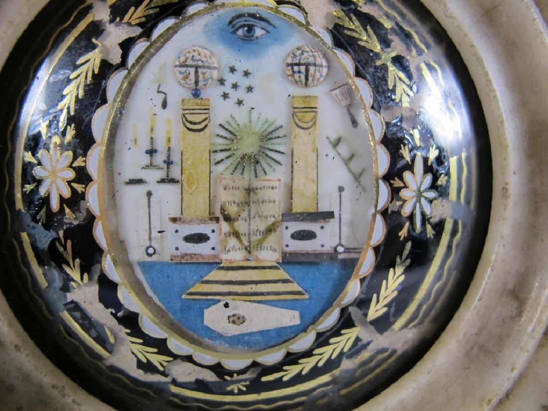 Antique French Masonic alabaster P.O.W. jewel 1797-1801 - 5