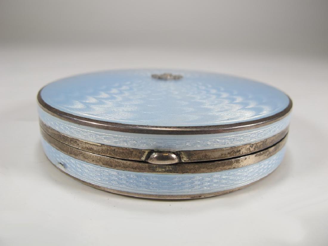 Antique Swedish Masonic 935 sterling & enamel box - 3