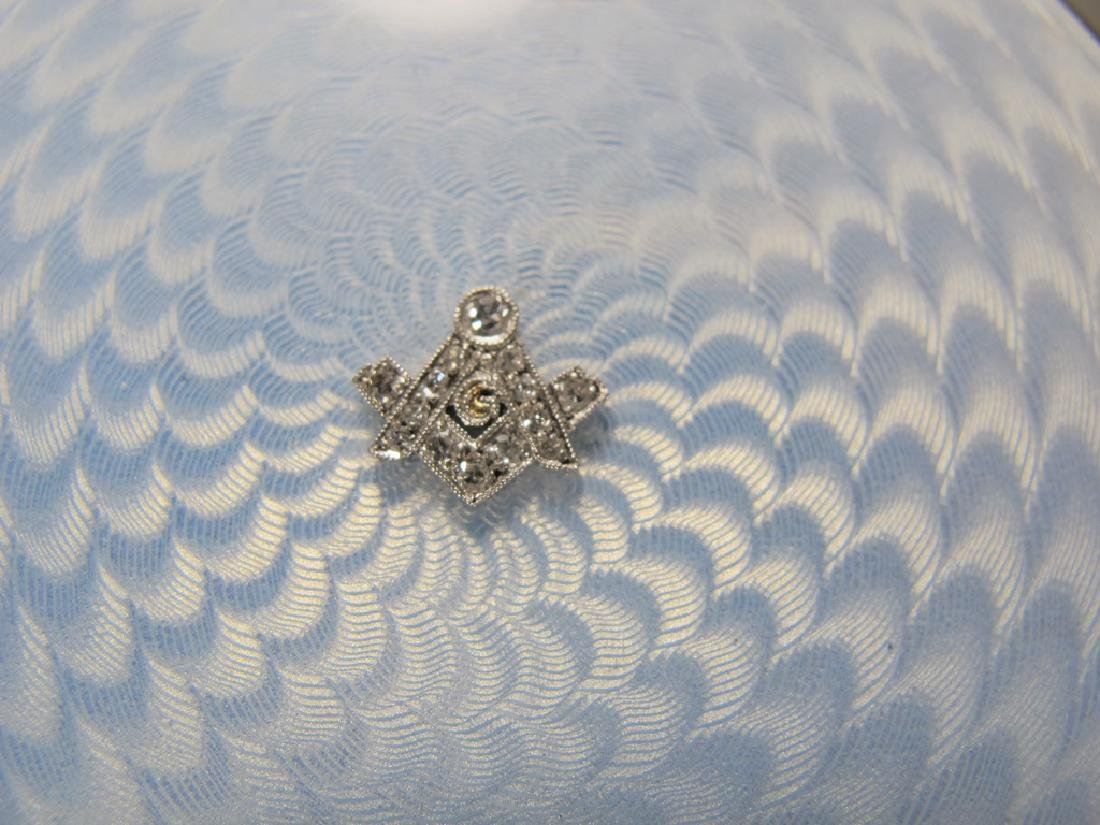 Antique Swedish Masonic 935 sterling & enamel box - 9