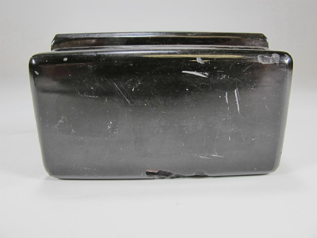 Antique Masonic rectangular horn snuff box - 4