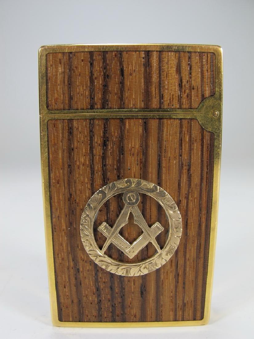 S.T Dupont Davidoff Masonic wood grain lighter - 2