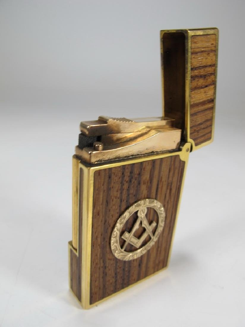 S.T Dupont Davidoff Masonic wood grain lighter - 3