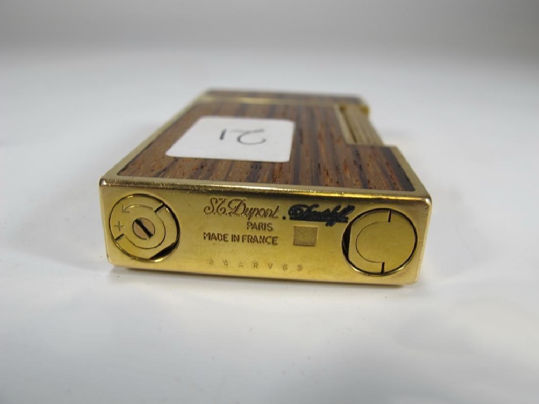 S.T Dupont Davidoff Masonic wood grain lighter - 4