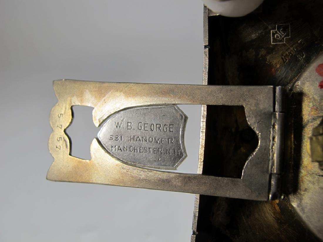 Geneva Clock Co Masonic sterling & enamel desk clock - 6