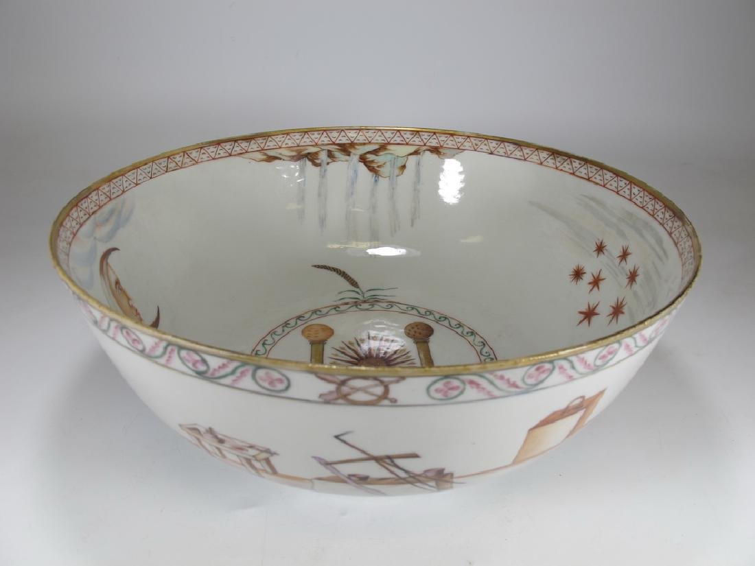18/19th C. Chinese export Masonic porcelain bowl