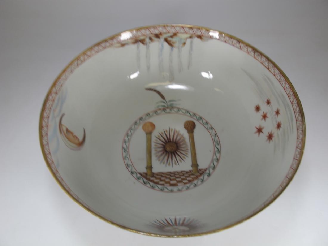 18/19th C. Chinese export Masonic porcelain bowl - 2