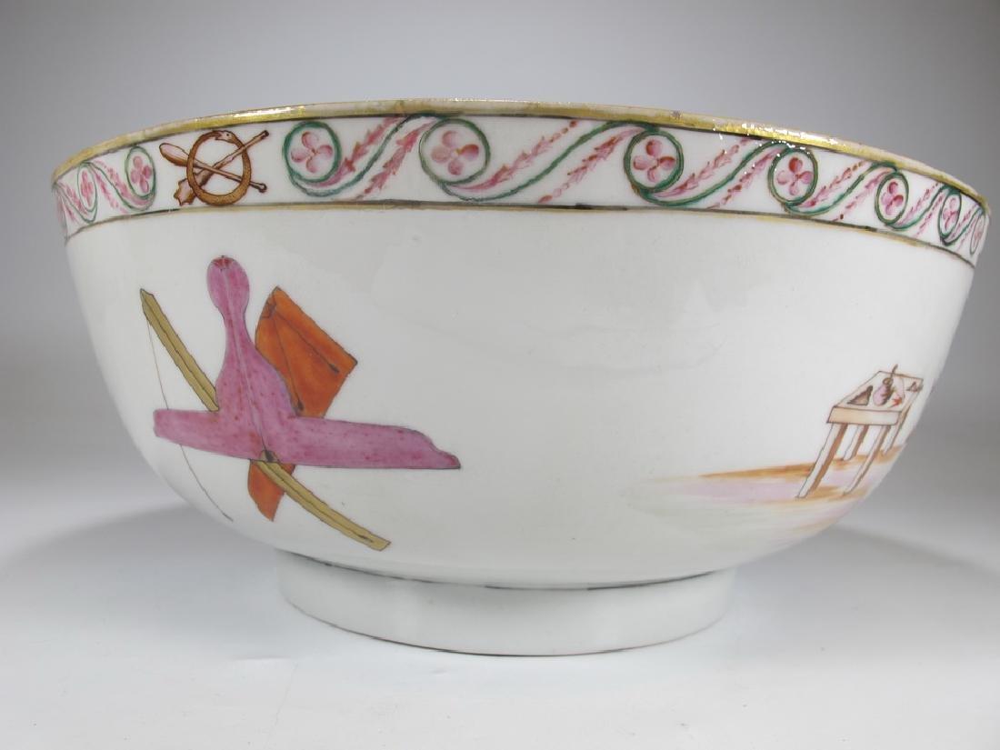 18/19th C. Chinese export Masonic porcelain bowl - 6