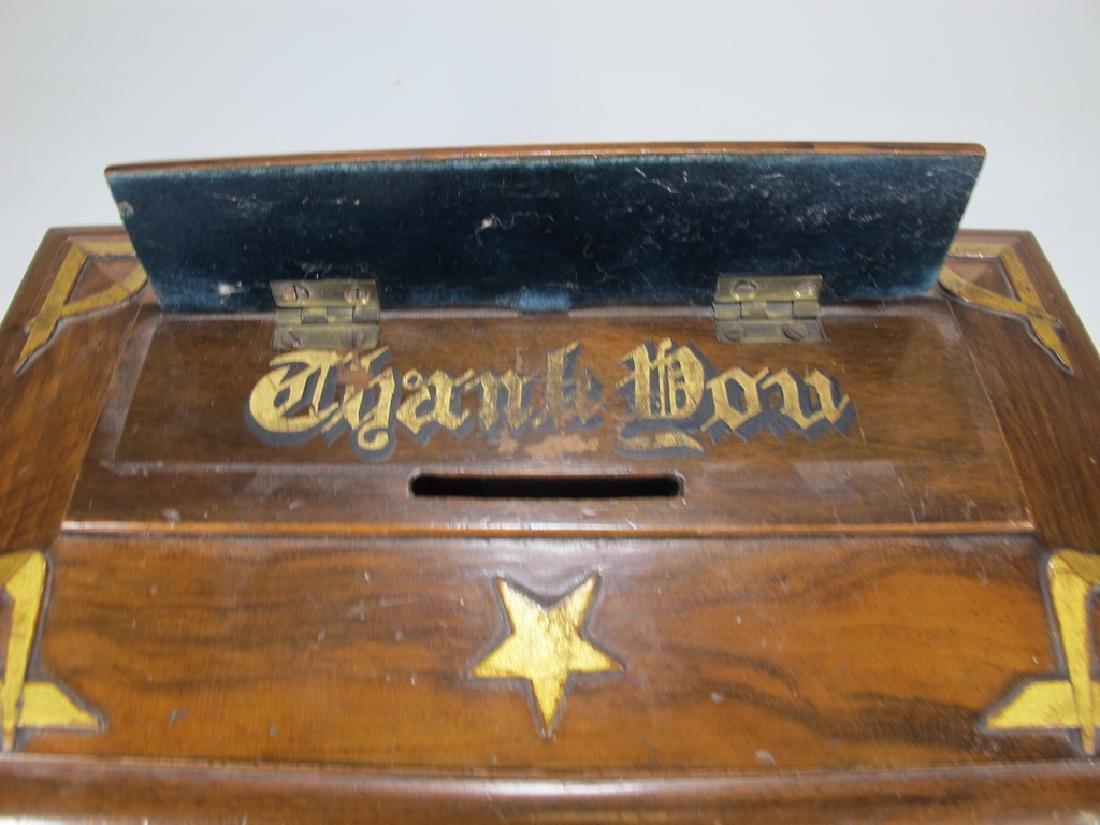 Antique Masonic Georgian Alms wood box - 3