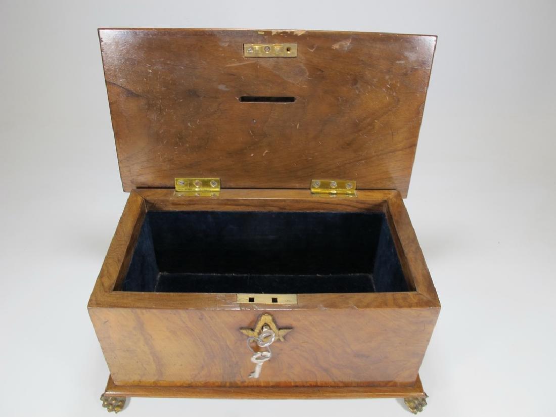Antique Masonic Georgian Alms wood box - 4