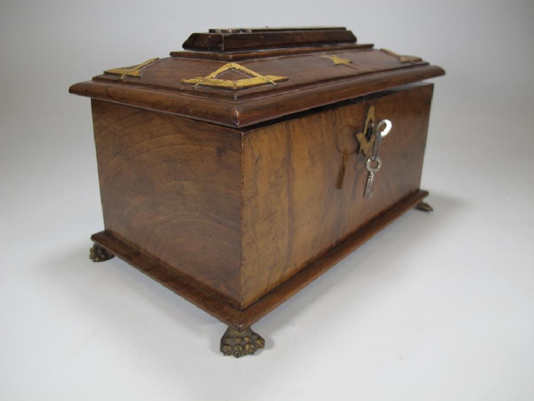 Antique Masonic Georgian Alms wood box - 5