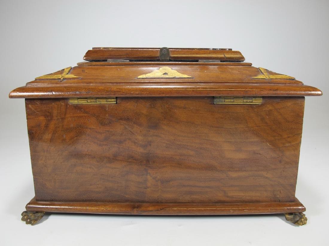 Antique Masonic Georgian Alms wood box - 6