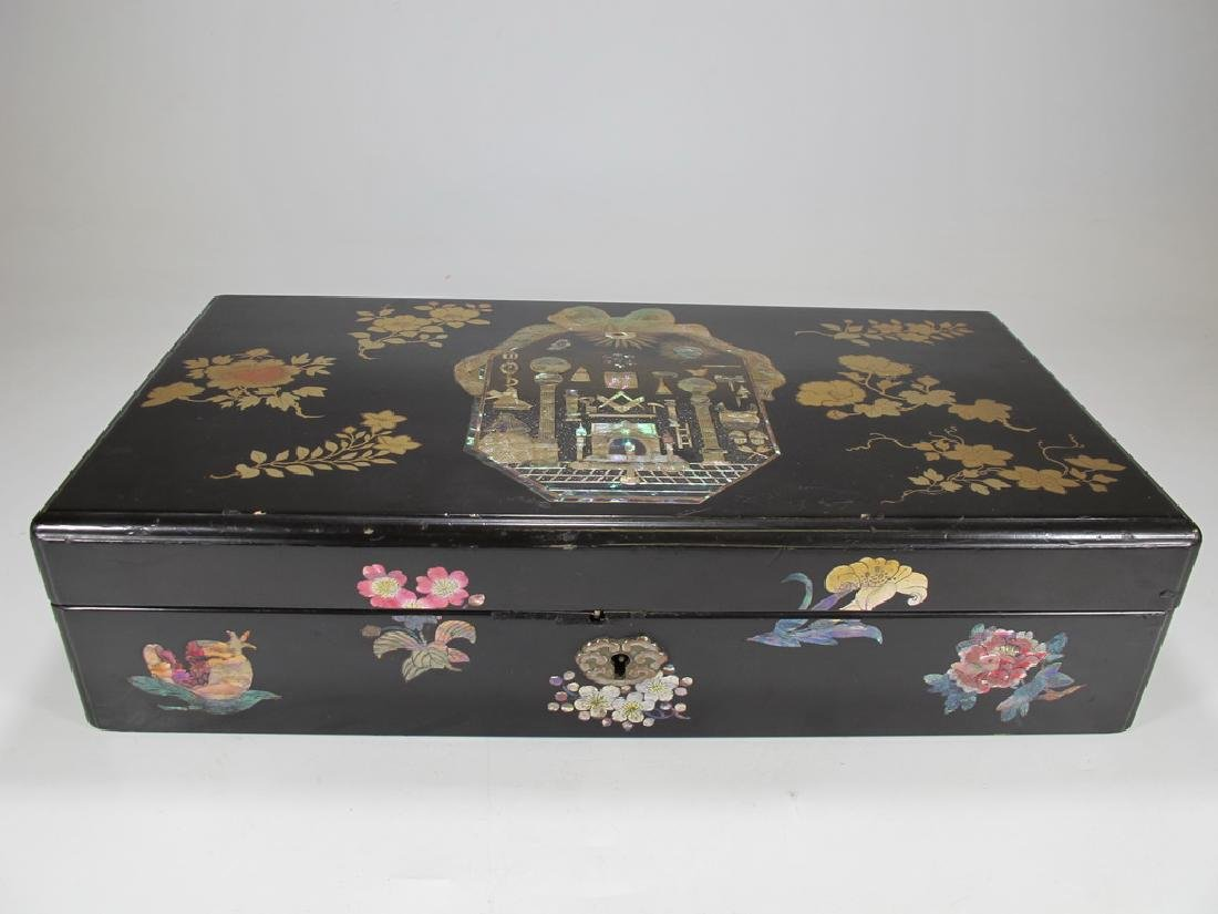 18th/19th C. Japanese Masonic export lacquer box