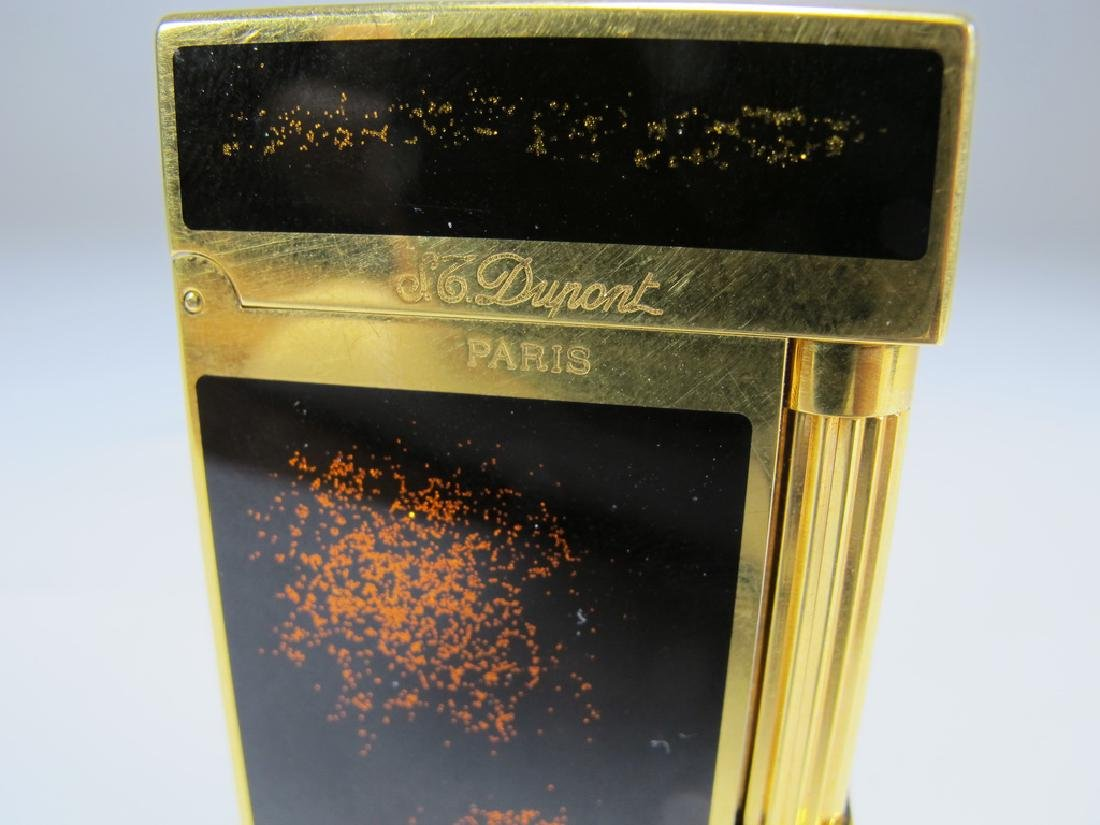 S.T. Dupont Masonic lacquer gold dust lighter - 2