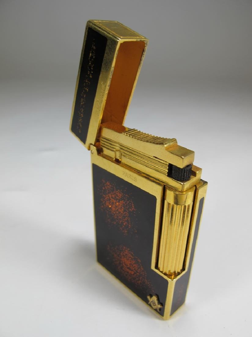 S.T. Dupont Masonic lacquer gold dust lighter - 6