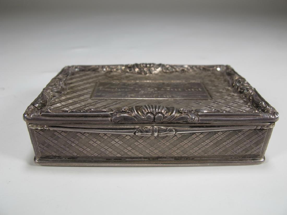 Antique Masonic sterling snuff box