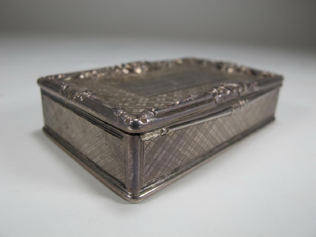 Antique Masonic sterling snuff box - 3