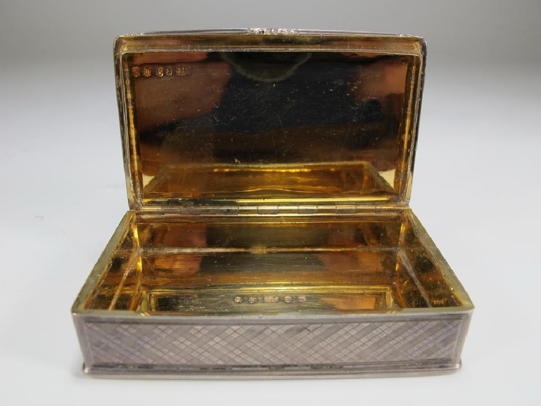 Antique Masonic sterling snuff box - 4