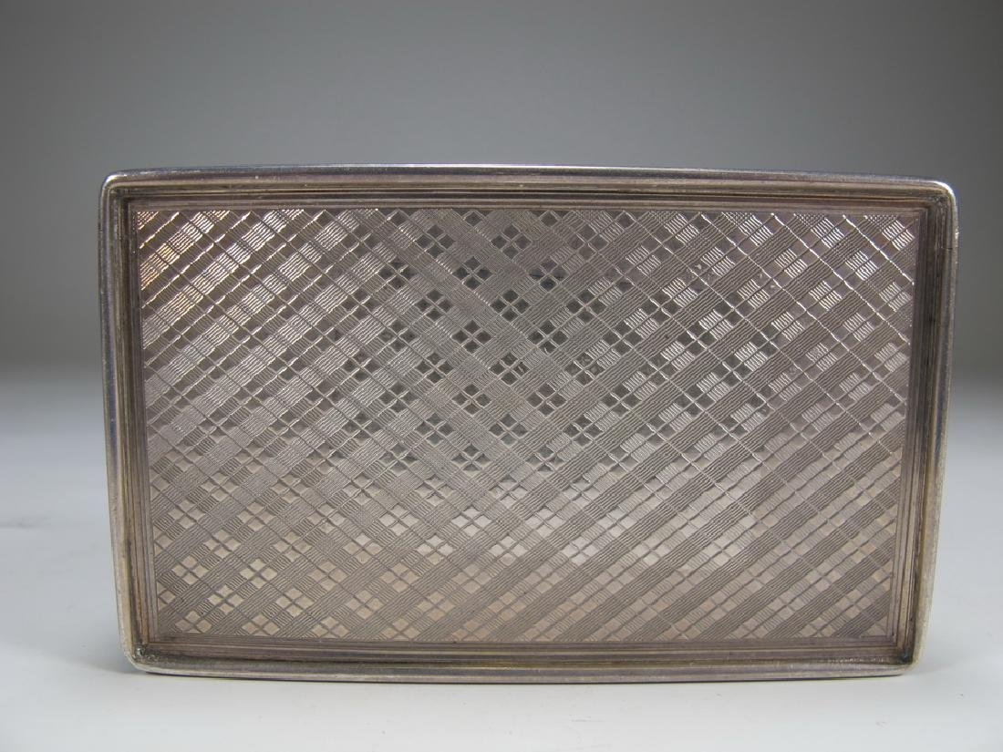 Antique Masonic sterling snuff box - 7
