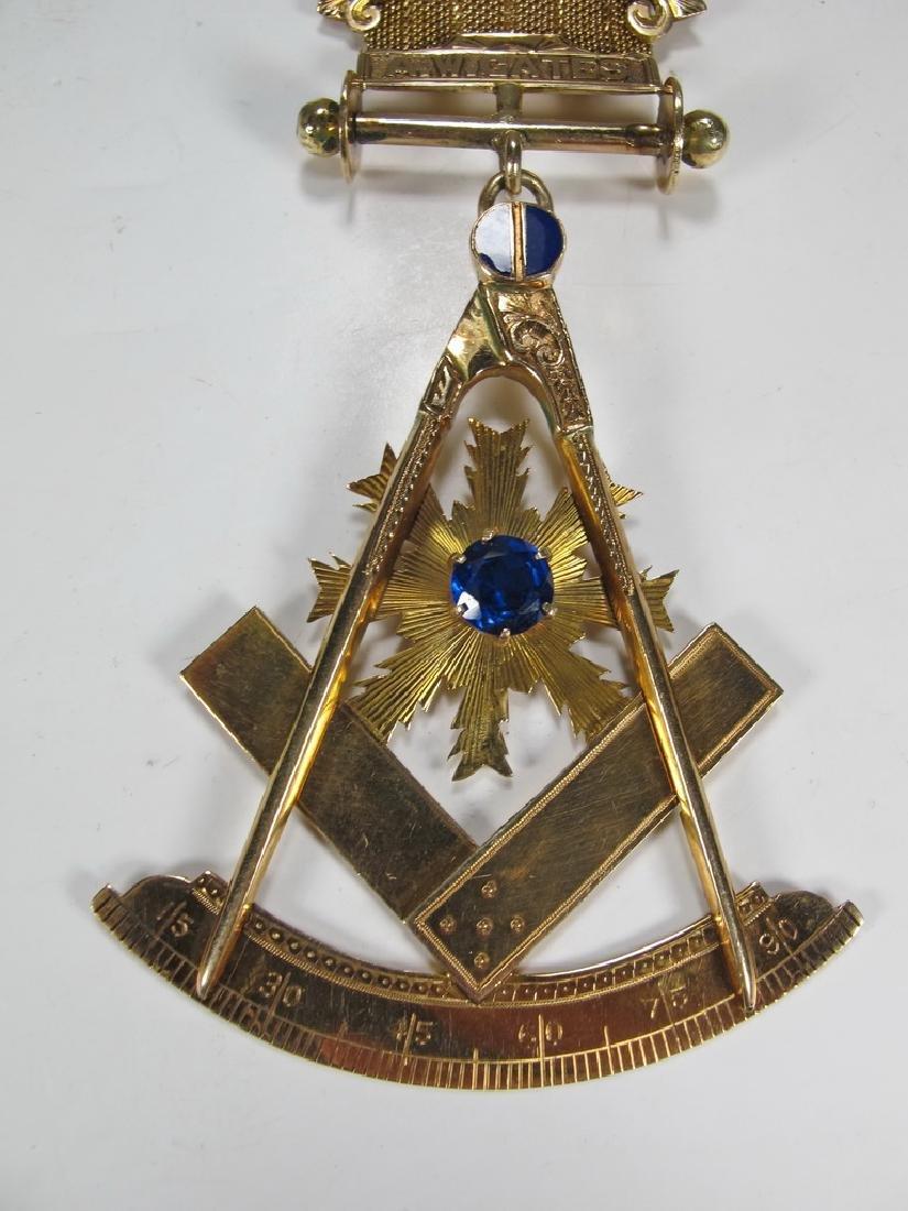 Antique Masonic 14 kt gold breast jewel - 3