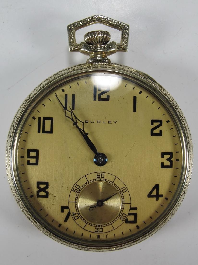 Vintage Dudley Masonic 14k gold filled pocket watch
