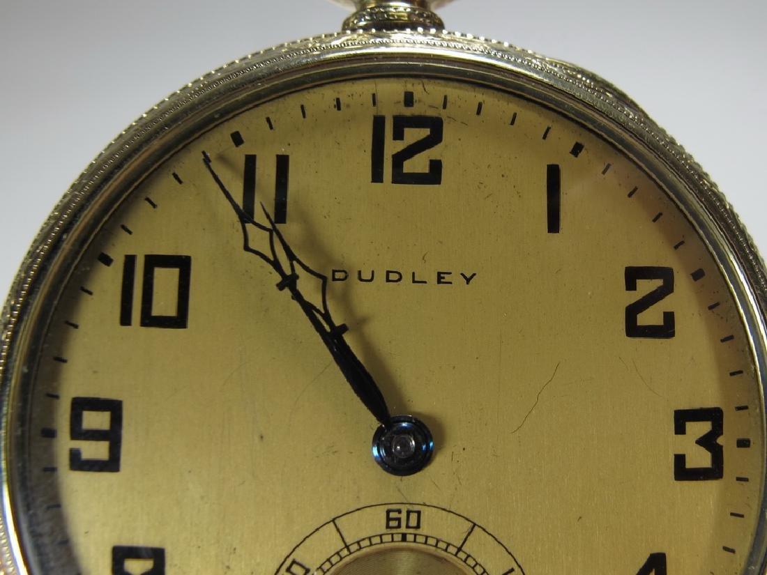 Vintage Dudley Masonic 14k gold filled pocket watch - 2