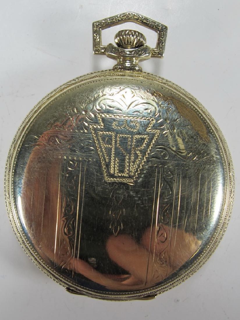 Vintage Dudley Masonic 14k gold filled pocket watch - 3