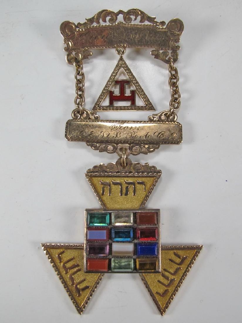 Antique Masonic Past High Priest breast jewel
