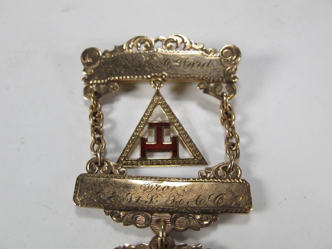 Antique Masonic Past High Priest breast jewel - 2
