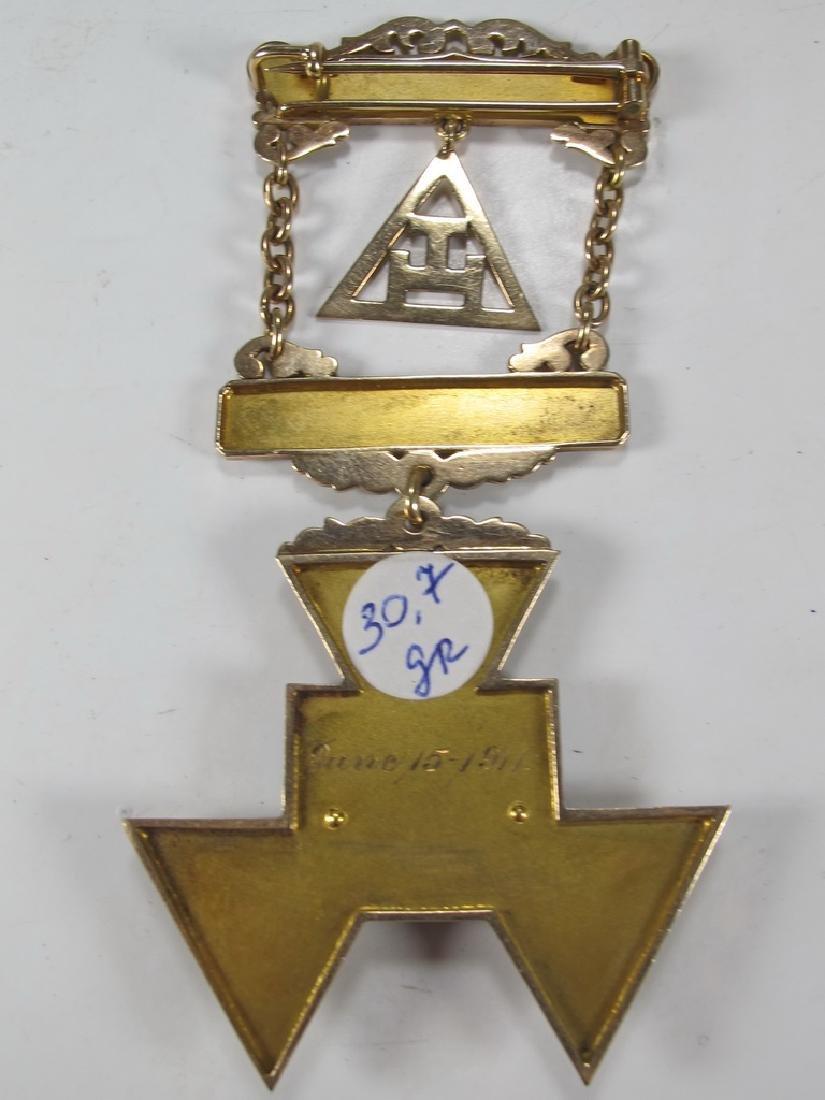 Antique Masonic Past High Priest breast jewel - 4